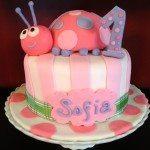 Pink-ladybug-fondant-cake-1st-birthday