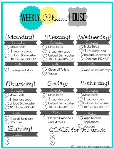 Clean Schedule 1