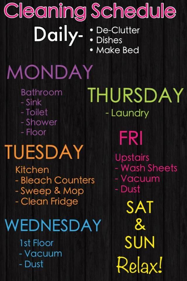 Clean Schedule 4