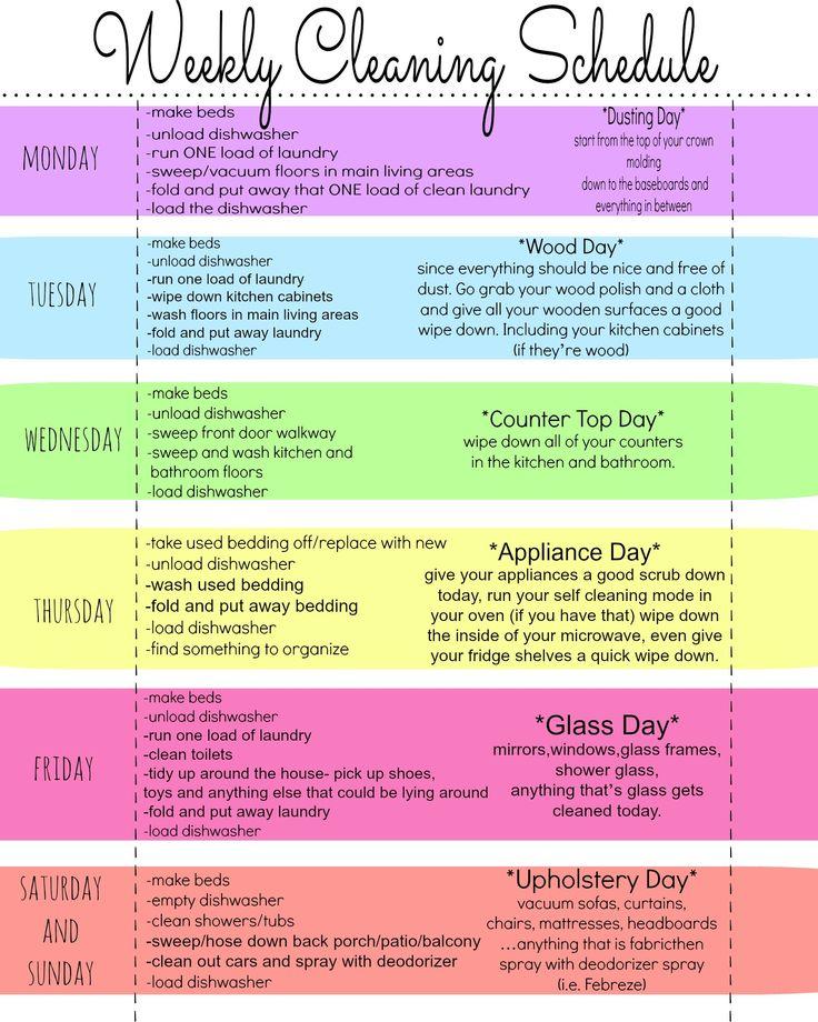 Clean Schedule 5