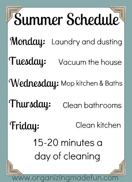 Cleaning Schedule 2