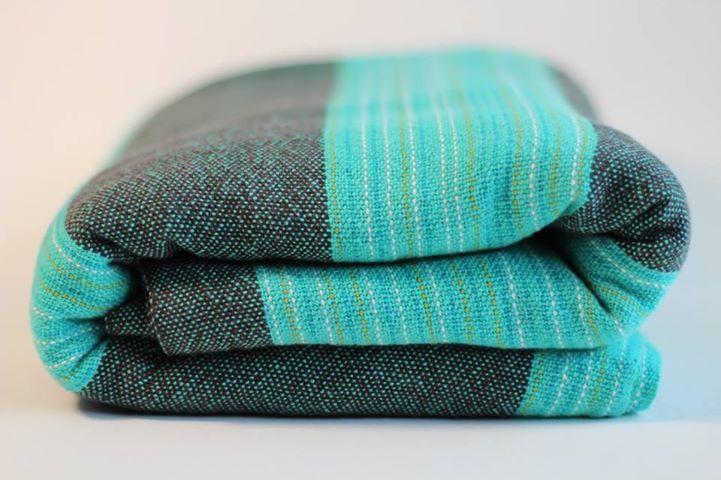 Uppy wrap - turquoise weft