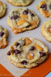 Salted Chocolate Chip Caramel Cookies