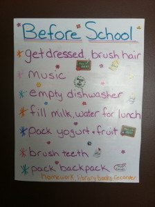 Kids To do List Before School: healthy routines